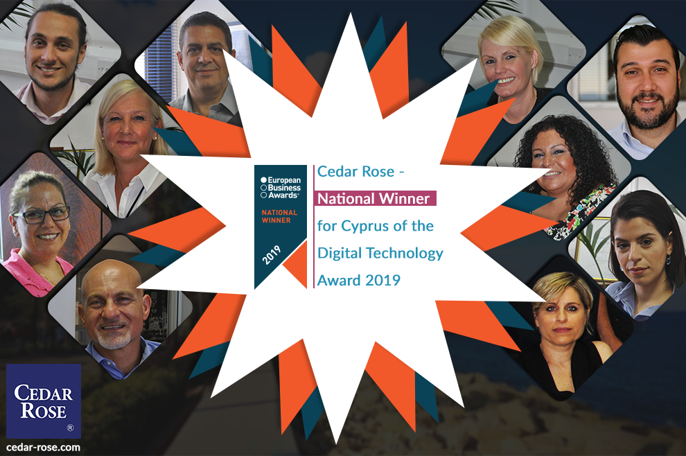 Cedar Rose named National Winner in Prestigious European Business Awards 2019