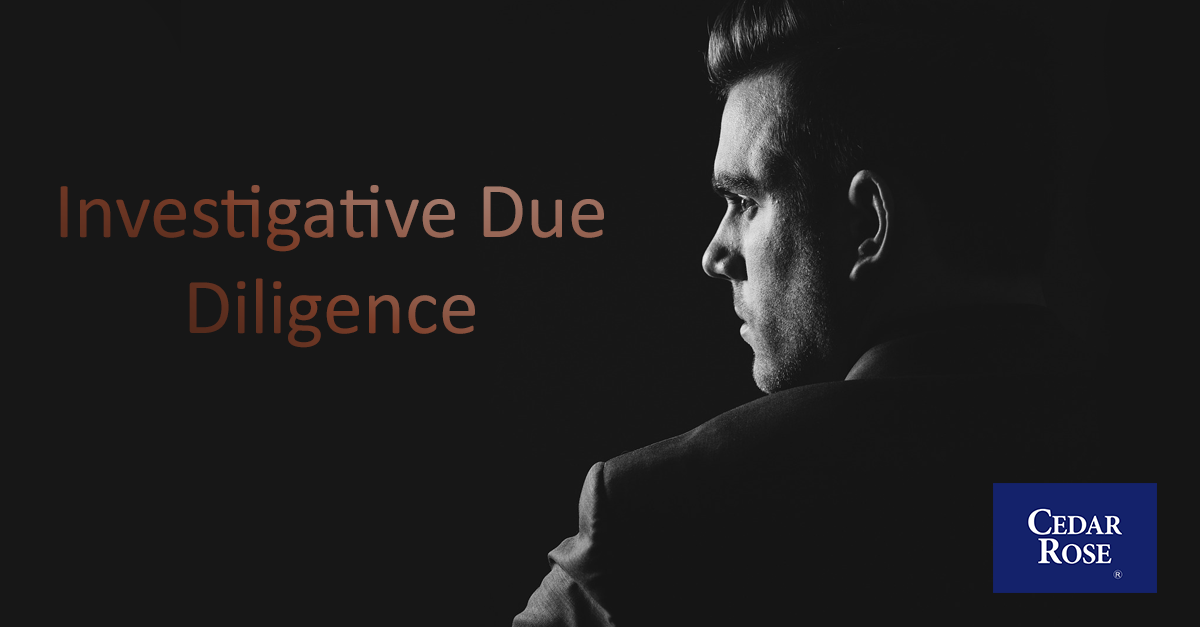 Investigative Due Diligence Report -  What is it & Why you need one?